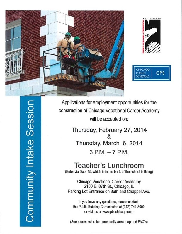 Employment Opportunities At Chicago Vocational Career Academy